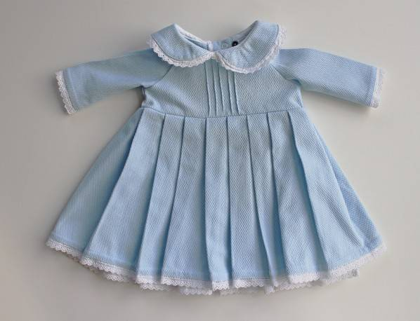 Newborn dress - blue
