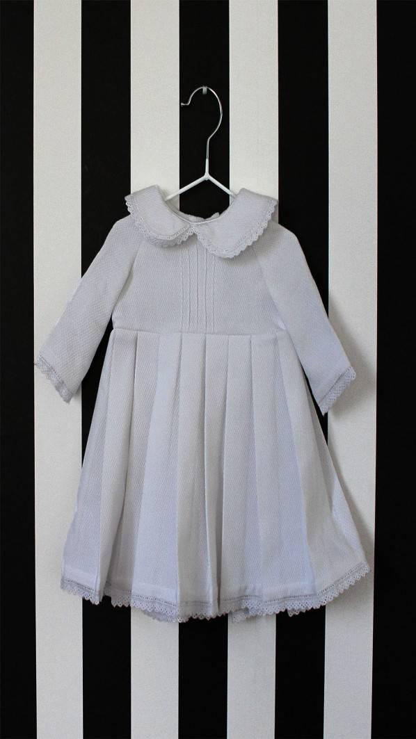 Vestido saial recém nascido - azul