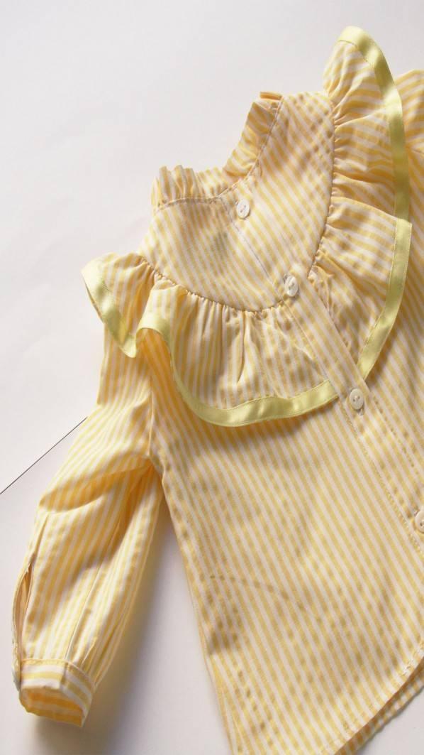 Camisa folho - riscas amarelas