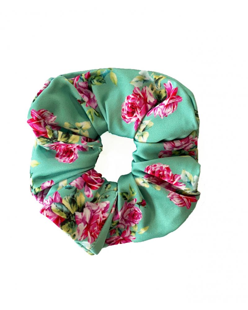 Scrunchie Roses Green