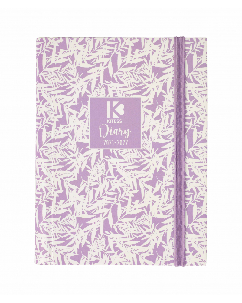 16 Month Diary Planner Bamboo Lavander