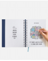 16 Month Diary Planner Roses Blue