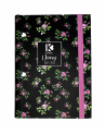 16 Month Diary Planner Black Flowers