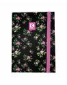 Notebook Black Flowers