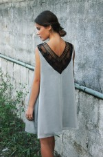 Cannes dress Grey
