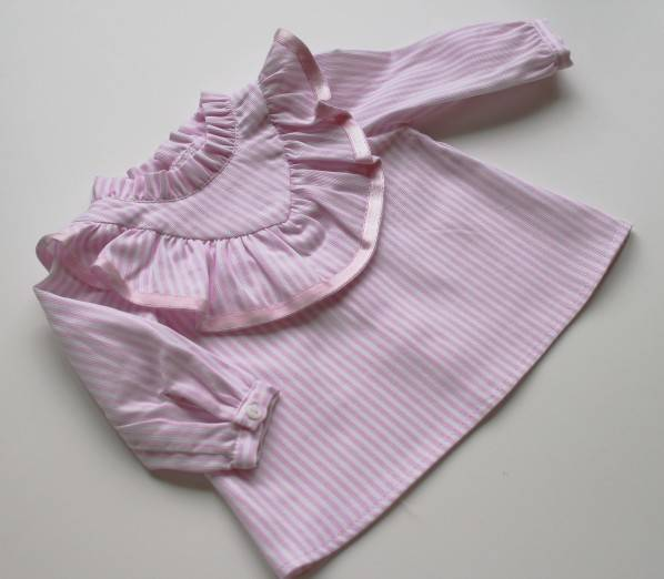 Camisa folho - riscas rosa